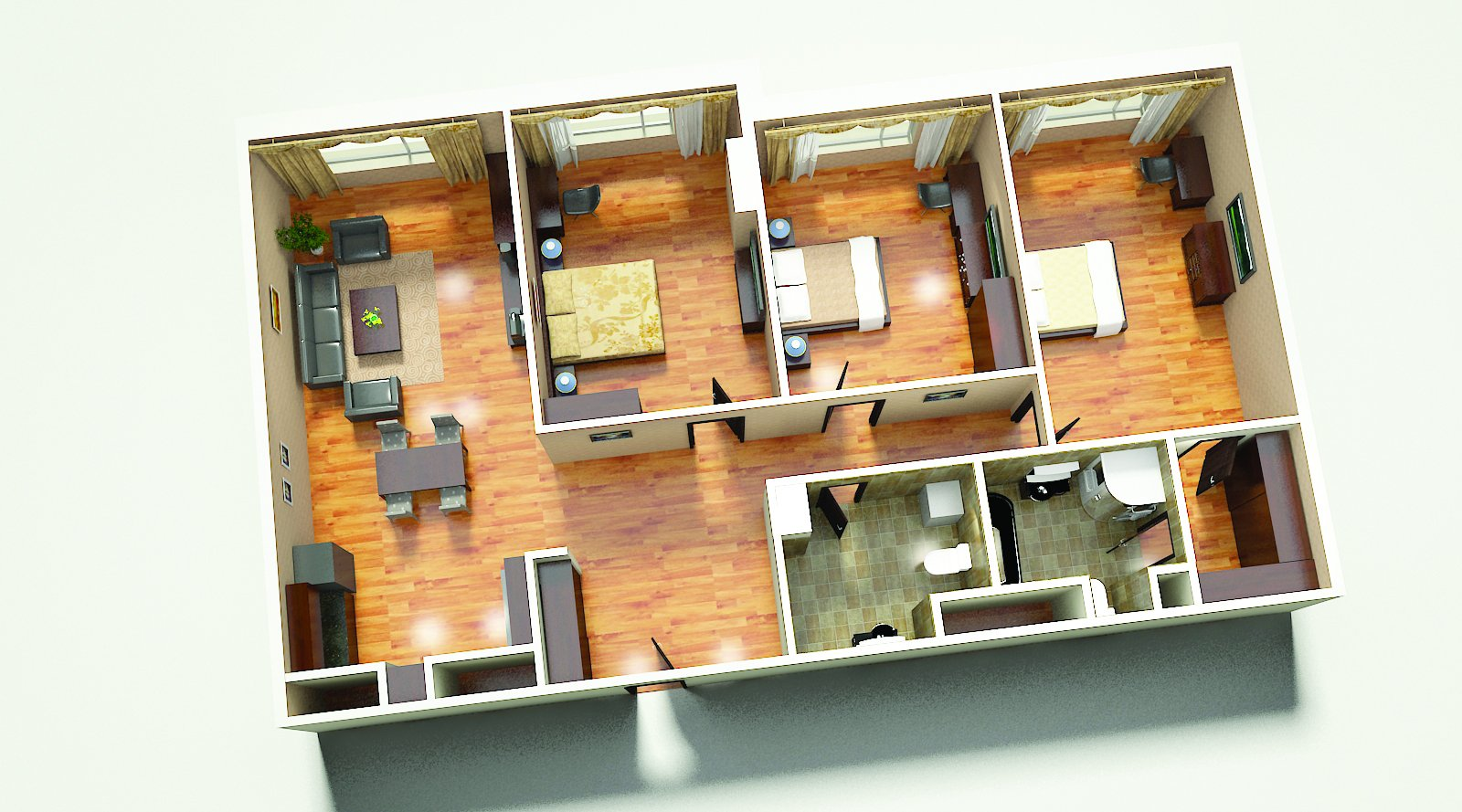 Buy a two-bedroom apartment in Todi