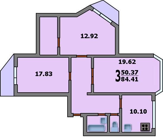 Размеры балкона в доме серии 3м. - поможем купить окна - кат.